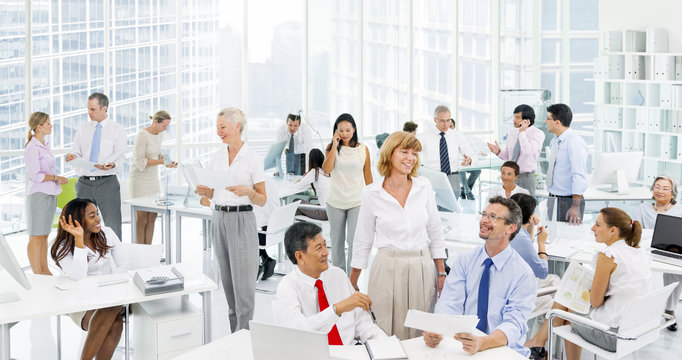 Business people discussing at the Office