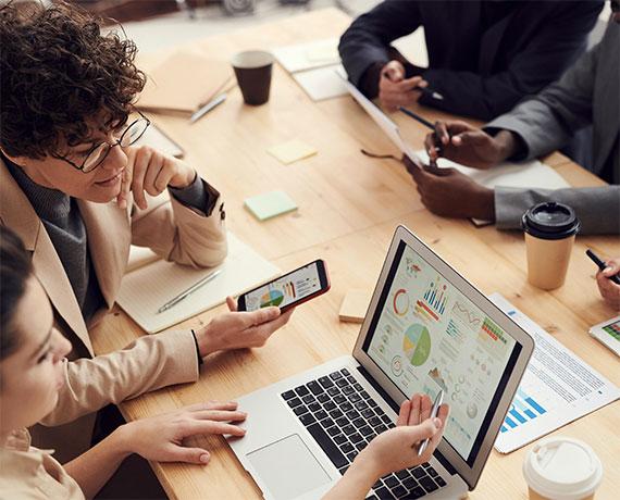 Employees Analyzing Data